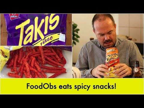 FoodObs Eats Spicy Snacks
