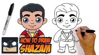 How to Draw Shazam | Step-by-Step Tutorial