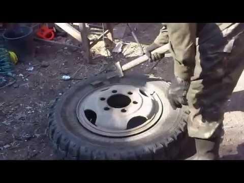 Как разбортировать колесо газ 53