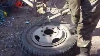 как разобрать колесо газона(для тех, кто не умеет бортировать колёса., 2015-03-18T10:34:48.000Z)