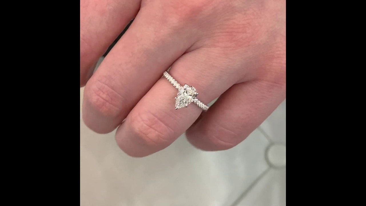 1.21 ct Radiant & 1 ct Pear Shape Diamonds Diamond Duo Ring