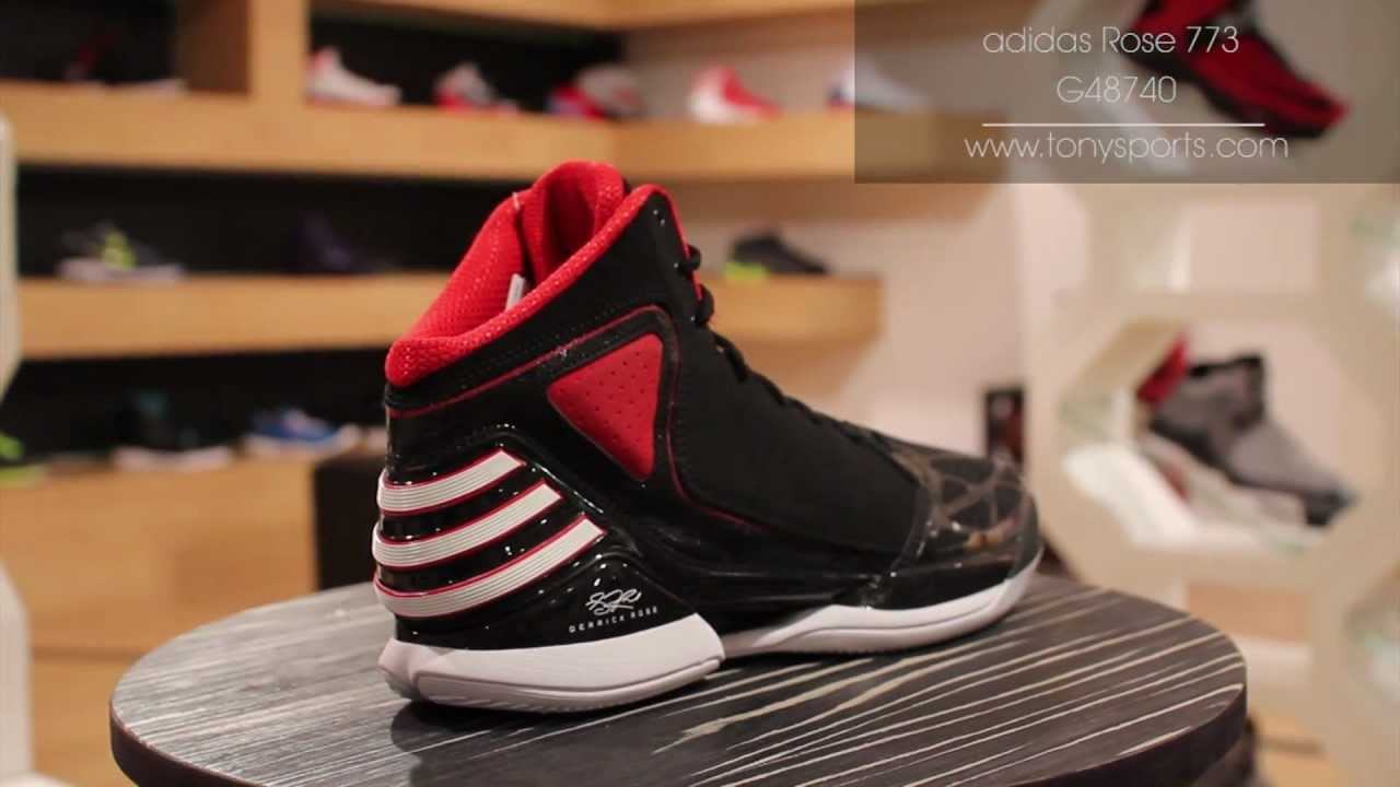 premium selection 0b7b4 5960d adidas Rose 773 - BlackRedWhite - G48740 www.tonysports.com