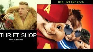 MACKLEMORE & RYAN LEWIS - THRIFT SHOP FEAT. WANZ CHIPMUNKS version