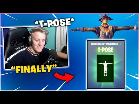 TFUE Finally Buys *T-POSE* Emote From Item Shop!