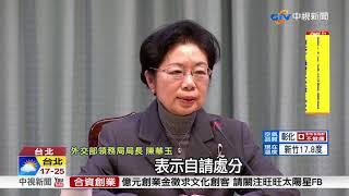 護照烏龍祭懲處 領務局長陳華玉丟官│中視新聞 20171228