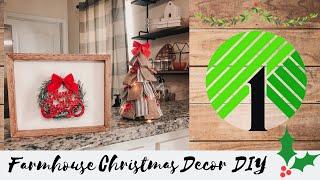 Dollar Tree Christmas DIY 2019 | Christmas Farmhouse Home Decor | Quick & Simple