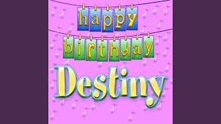 Cover images Happy Birthday Destiny (Personalized)