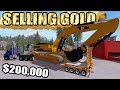 MINING SIMULATOR 2017 | SELLING $200,000 WORTH OF GOLD + NEW CAT EXCAVATOR