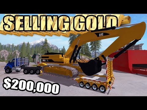 Thumbnail: MINING SIMULATOR 2017 | SELLING $200,000 WORTH OF GOLD + NEW CAT EXCAVATOR