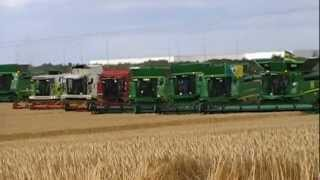 Combines 4 Charity World Record 2012 - 208 Combines Havesting in one field thumbnail