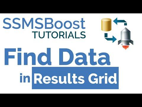 SSMSBoost Tip #4: Find Data in Results Grid (SQL Server Management Studio)