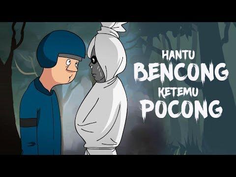 Kartun Lucu Horor - Hantu Bencong Ketemu Pocong