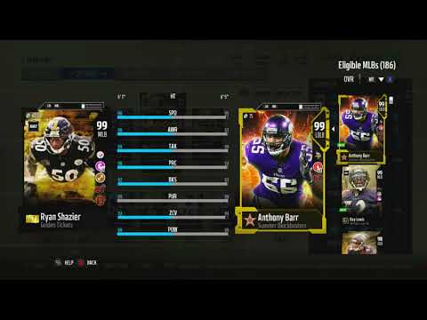 Madden 18 MUT-99 Overall Team! INSANE Squad! Tons Of New BlockBuster Players! 99 Bo Jackson!