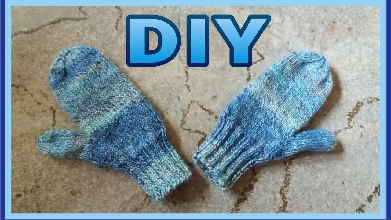 Hervorragend Baby Handschuhe mit Daumen stricken • DIY *Julebuergerfee - YouTube EX06