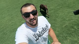 CHASED BY WILD DOG!!