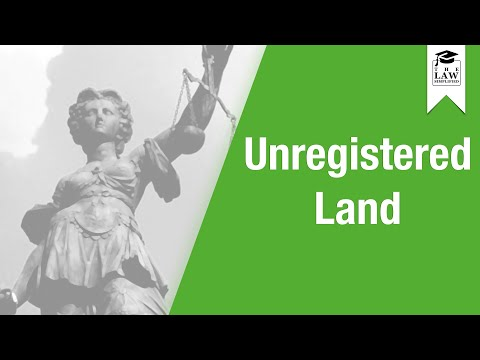 Property Law - Unregistered Land