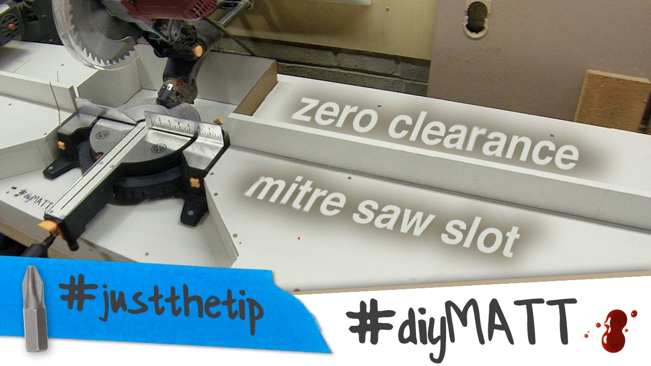Quick & easy zero clearance mitre saw insert