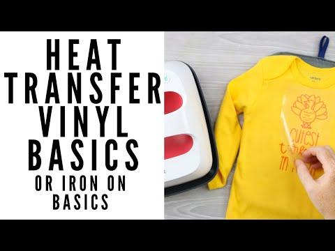 Heat Transfer Vinyl Or Iron On Basics
