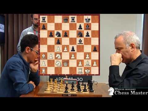 Kasparovs PERFECT ATTACK  vs. US Champion Fabiano Caruana!