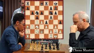 Kasparovs PERFECT ATTACK  vs. US Champion Fabiano Caruana!