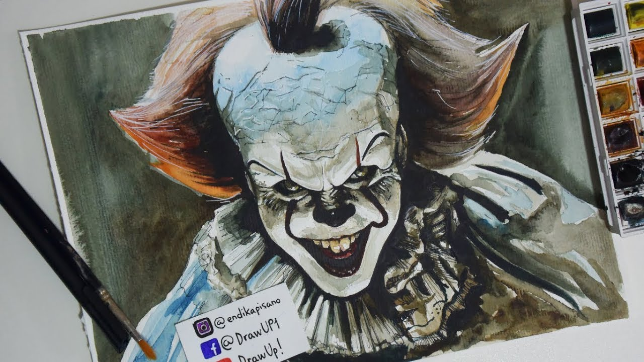 how to draw pennywise 1990