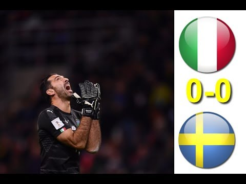 Italy vs Sweden 0-0 Extended Highlights HD 13/11/2017