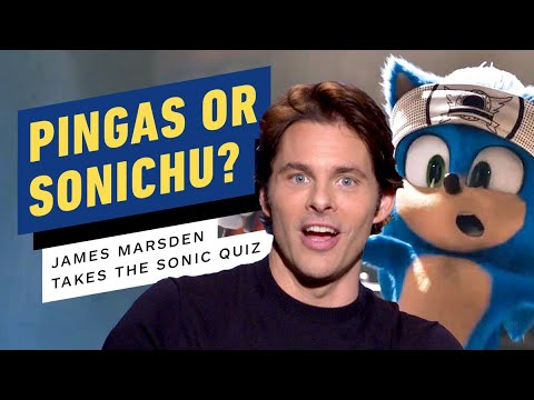 James Marsden Takes The Ultimate Sonic The Hedgehog Quiz Youtube