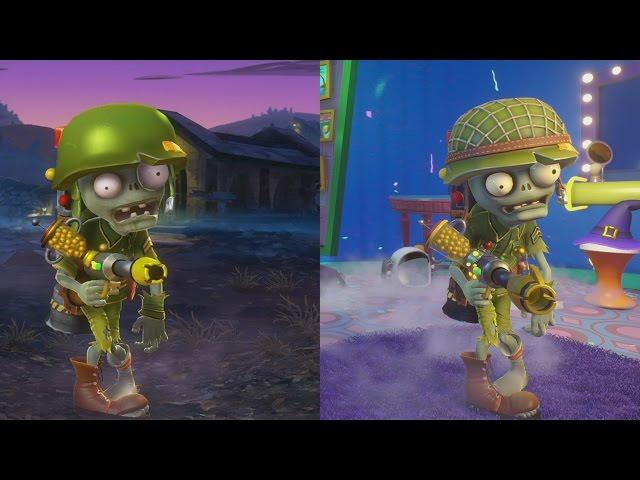 Plants VS Zombies Garden Warfare 2 | CHARACTERS EVOLUTION | Evolución de los personajes