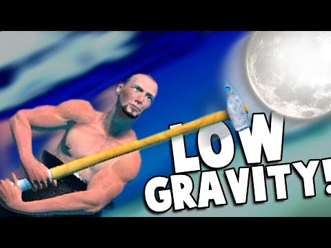 LOW GRAVITY CHEAT! WILL IT GET ME TO THE MOON?! - Getting Over It with Bennett Foddy