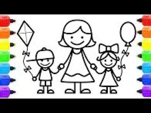 Coloriage Anniversaire Famille.Comment Dessiner Le Livre De Coloriage De La Famille Maman Frere Soeur