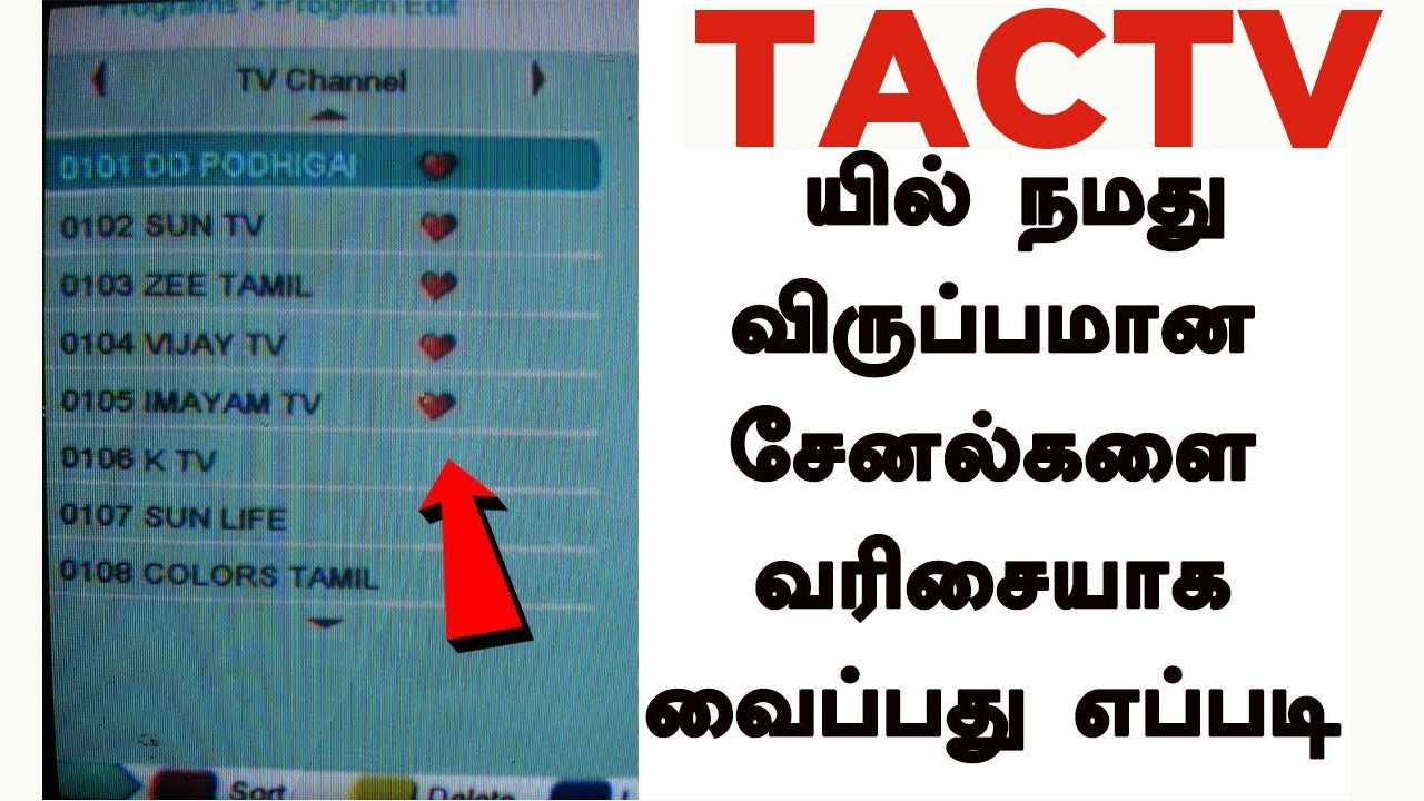 How To Set Favourite Channel In Tactv Ajai Tech Youtube