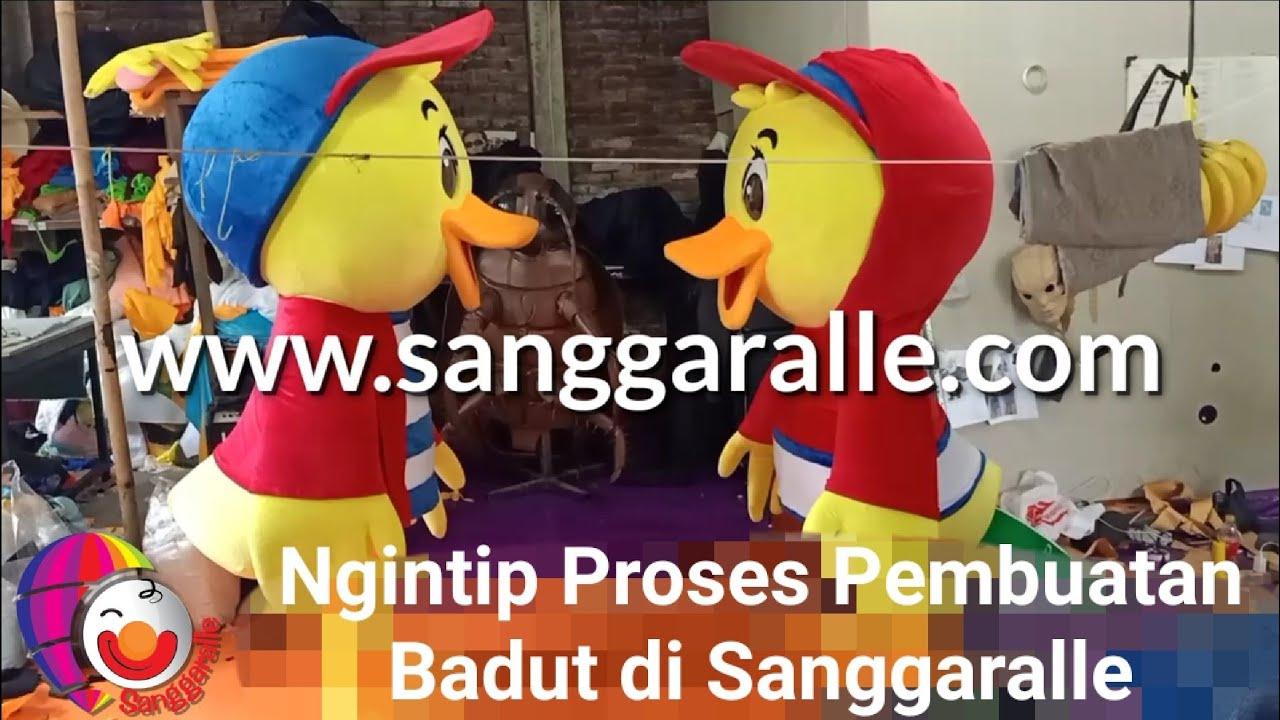 Ngintip Proses Pembuatan Maskot di Sanggaralle - Badut Lucu CHIKI BALL