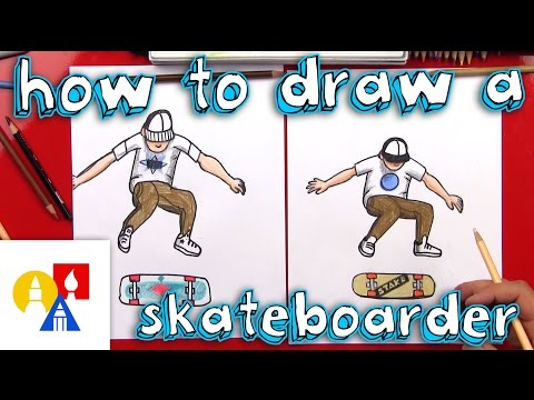 How To Draw A Skateboarder Doing A Kickflip
