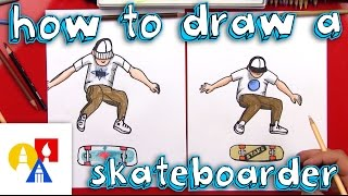 Gambar cover How To Draw A Skateboarder Doing A Kickflip