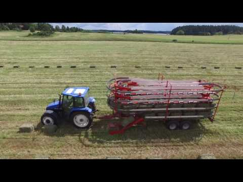 Making 20,000 Square Bales Of Hay - Holmbergs Hästhö