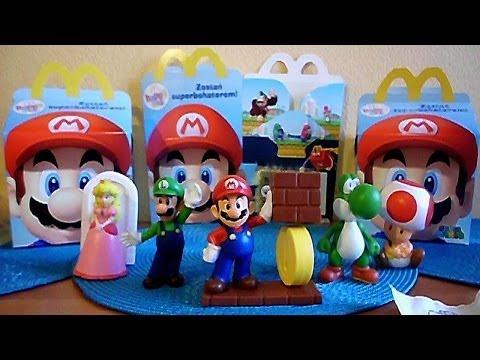 Part 1: 2013 Nintendo Super Mario Toys Set in Happy Meal McDonald's Europe Unboxing
