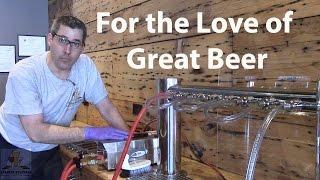 How to clean draft beer lines: Circulation Method