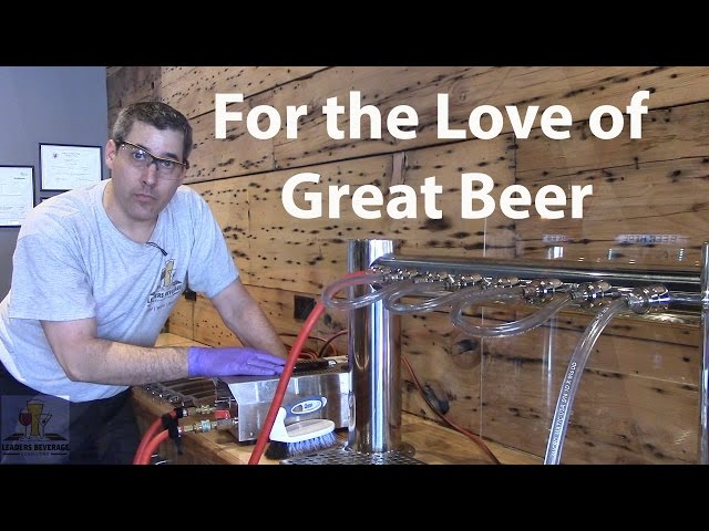 How to clean draft beer lines: Circulation Method