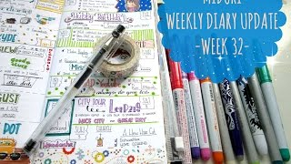 Midori Traveler's notebook -Weekly Diary Update - WEEK 32
