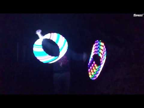Spinner of Light! LED Poi, staff, levi wand, hoop spinning routines to amaze, amuse and inspire...