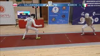 FE 2018 T32 13 M F Individual Yerevan ARM U23 European Championships RED BIANCHI ITA vs GALUASHVILI
