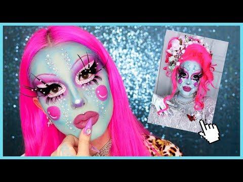 JE REPRODUIS UN MAKEUP DE CREME FATALE 🌸 | Drag Queen Makeup
