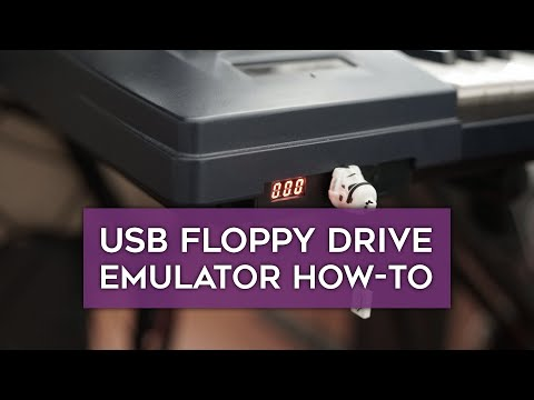 How to install a USB Floppy Drive Emulator in an old keyboard