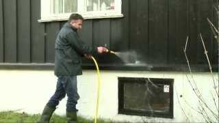 vasking av vegg