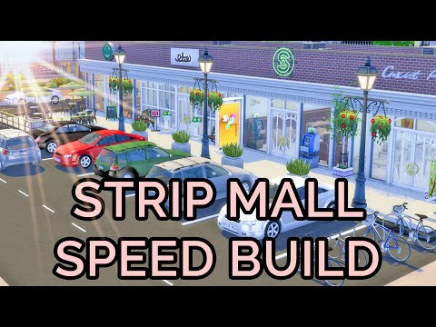 #Sims4: Strip Mall Build (Starbucks,Apple Store,Boutique,Bank)