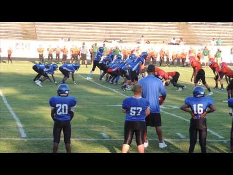 Whale Branch Middle School Football 20160907