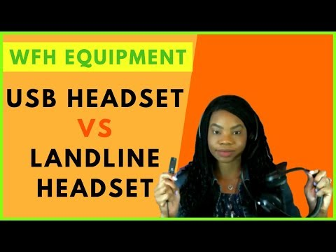 Work-at-home Equipment USB Headset Vs Landline Headset   Online, Remote Work From Home Jobs 2019