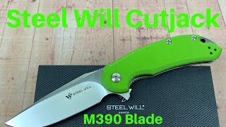 steel Will C22-2GR Cutjack Green G10 knife W/M390 Blade   Time to go Green !!!