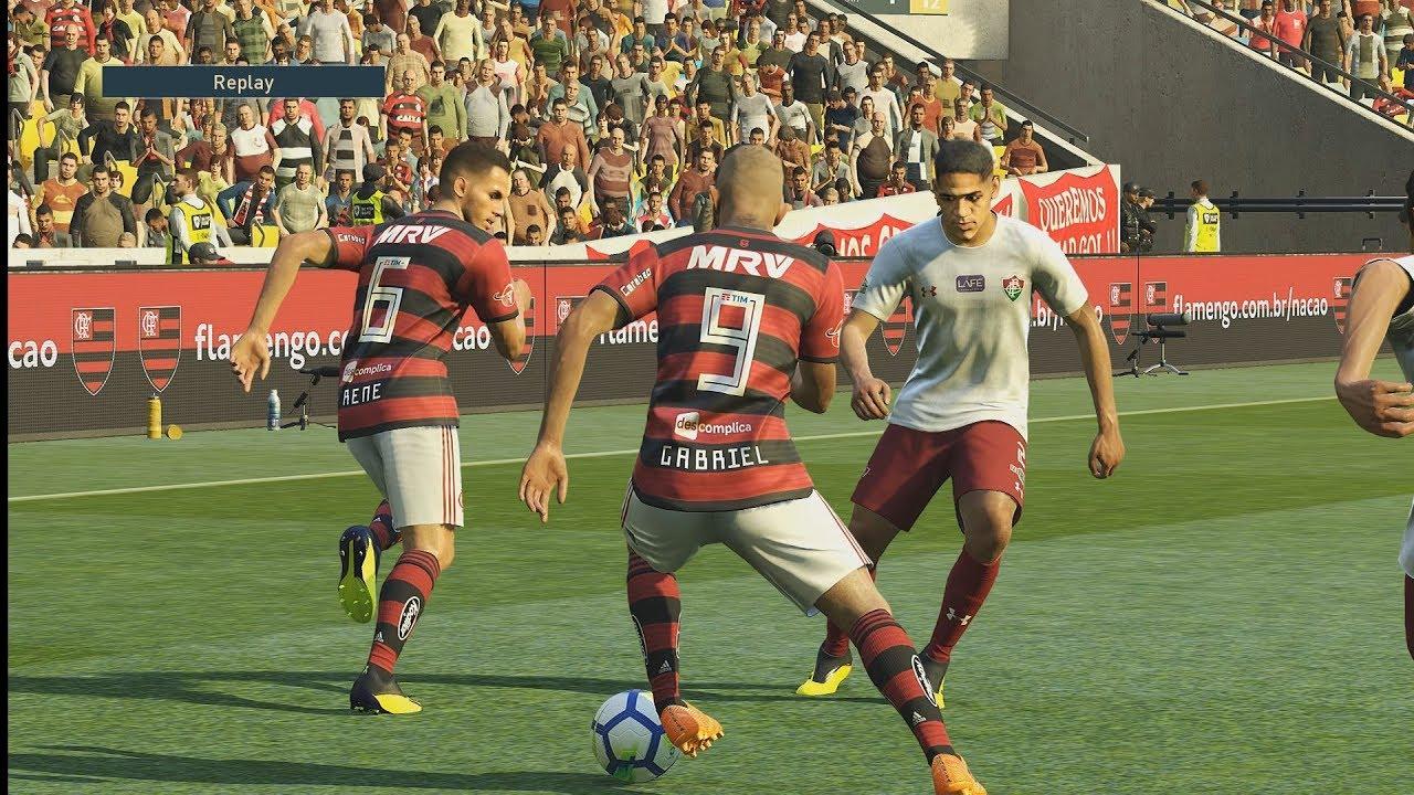 c67300eccd0d2 Flamengo x Fluminense ( Fla-Flu ) semifinal da Taça Guanabara - 14 02 2019  - PES 19 ESTRELA