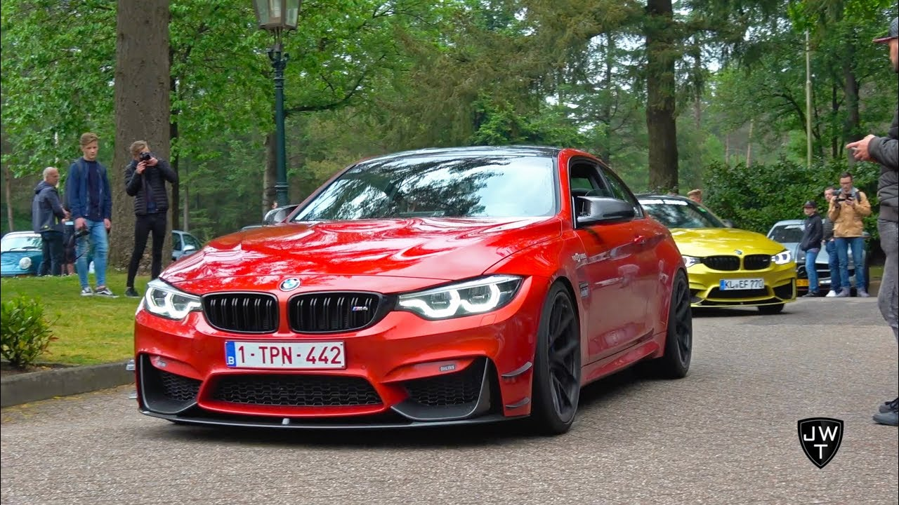 Loud Modified Bmw M4 F82 Coupes W Custom Exhausts Revs More Sounds Youtube